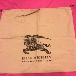 Burberry dust bag